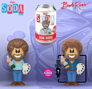 Funko Vinyl Soda: Bob Ross w/ Limited Edition 1-6 Chase (Flocked)