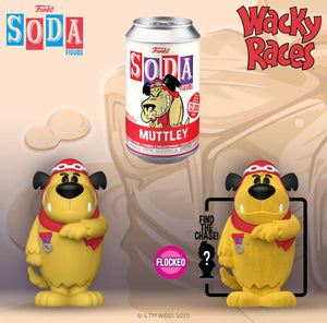 Funko Vinyl Soda: Wacky Racers - Muttley w/ Limited Edition 1-6 Chase (Flocked)