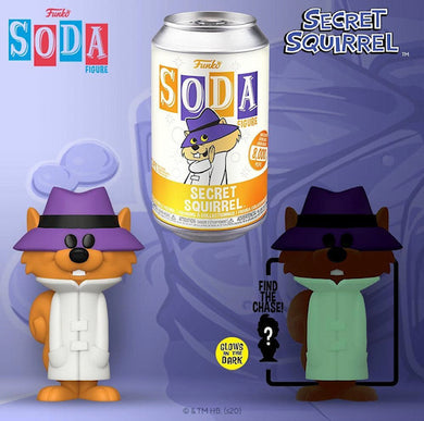 Vinyl SODA: Hanna Barbera- Secret Squirrel (GITD) (FL) w/ Limited Chase Edition 1-6