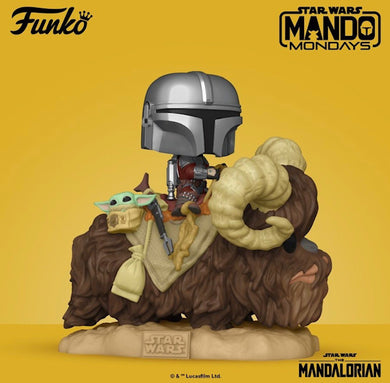 Funko POP! Deluxe: The Mandalorian on Bantha with Child