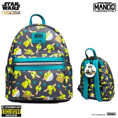 Loungefly: Star Wars The Mandalorian The Child Mini-Backpack - Entertainment Earth Exclusive