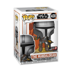 Funko POP! Star Wars: The Mandalorian - The Mandalorian Flying with Blaster (GS Exclusive)