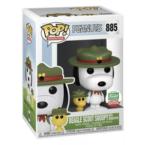 Funko POP! Peanuts: Beagle Scout Snoopy w/ Woodstock (Funko Shop Exclusive)