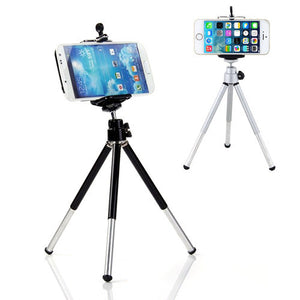 Universal Phone Tripod Stand Mount + Phone Holder