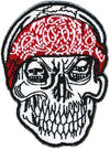 Skull w/Bandana Patch - Small