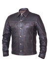 Motorcycle Jacket- Unik 867.RUB Distressed Brown Leather Riding Shirt