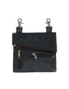Black Clip Bag w/2 Zipper Pockets