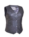 Motorcycle Vest- Unik 4 Snap Ladies Vest
