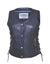 Ladies 4 Snap Motorcycle Vest w/Zip Pocket