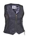Motorcycle Vest- Unik Premium Zipper Ladies Vest