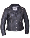 Motorcycle Jacket- Unik 561.00 Women's Studded Leather Jacket