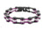 Black & Purple Motorcycle Chain Bracelet