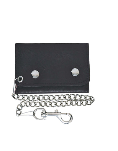 Tri-Fold MC Wallet w/Chain