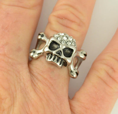 Skull & Bones Ladies Biker Ring
