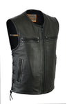 Motorcycle Vest- Daniel Smart DS146 Lace Side Zipper Vest