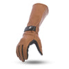 Leather Motorcycle Gauntlet Gloves - First Mfg. FI216 Whiskey Top