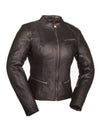 Motorcycle Jacket- First FIL108CCBZ Fashionista Women's Leather Motorcycle Jacket