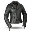 Motorcycle Jacket- First FIL160NOCZ Women's Monte Carlo Leather Jacket