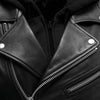 Women's Leather Motorcycle Jacket - First Mfg. Ryman Black Collar