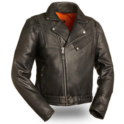 Motorcycle Jacket- First FIM210NOCZ 60's New Yorker Jacket