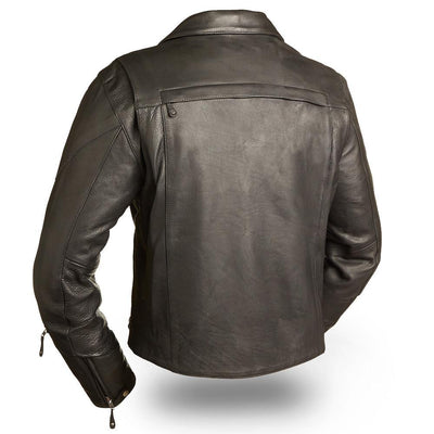 Motorcycle Jacket- First FIM210NOCZ 60's New Yorker Jacket Back