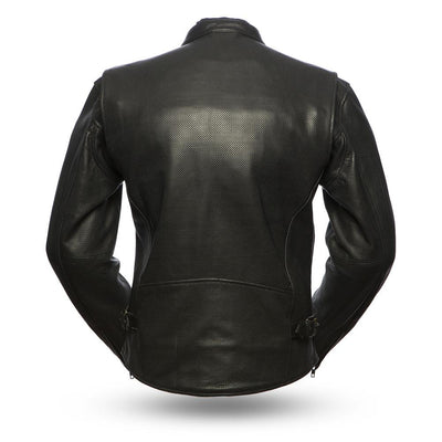 Motorcycle Jacket- First FIM213CNP Perforated Leather Jacket Back