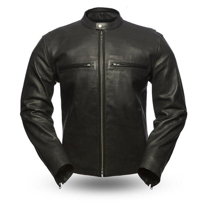 Motorcycle Jacket- First FIM213CNP Perforated Leather Jacket