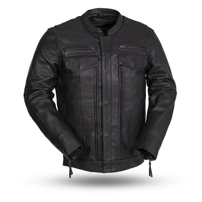 Motorcycle Jacket- First FIM263CDMZ Raider Men's Leather Jacket
