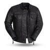 Motorcycle Jacket- First FIM263CDMZ Raider Men's Leather Jacket Front