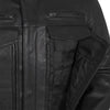 Motorcycle Jacket- First FIM263CDMZ Raider Men's Leather Jacket Front Pockets