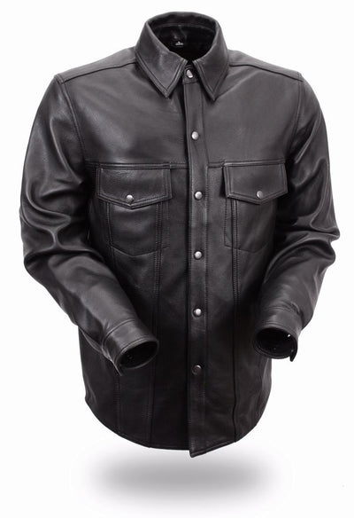 Motorcycle Jacket- First FIM403ES Men's Leather Riding Shirt