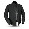 Motorcycle Jacket- First FIM417CNVS Mercer Canvas Men's Jacket Front