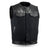 49/51 Men's Canvas/Leather Combo Motorcycle Vest No Collar