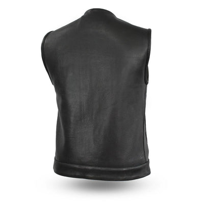 Motorcycle Vest- First Highside Leather Vest Back