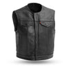 Lowside Men's Premium Leather Motorcycle Vest
