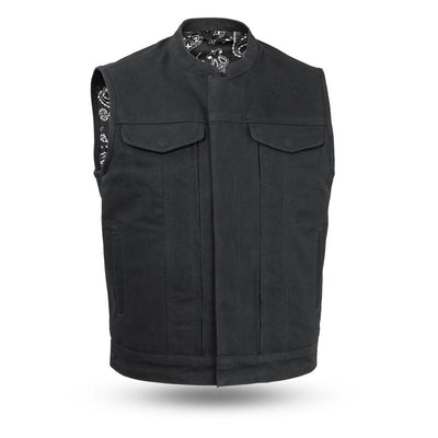 Motorcycle Vest- First Highland V2 Canvas Vest 2