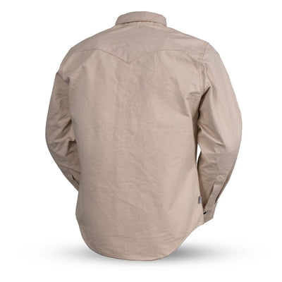 Men's Canvas Riding Shirt- First Mfg. Forsyth Natural White Back