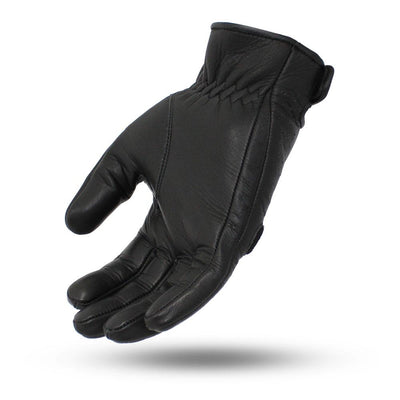Men's Leather Motorcycle Gloves - First Mfg. Pinnacle Black Hand
