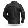 Men's Leather Motorcycle Jacket - First Mfg. Night Rider Black Back