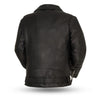 Men's Leather Motorcycle Jacket - First Mfg. Fillmore Black Back