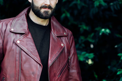 Men's Leather Motorcycle Jacket - First Mfg. Fillmore Oxblood