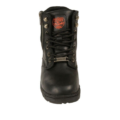 Women's Leather Motorcycle Boots - Milwaukee Leather MBL9320 Black Inner