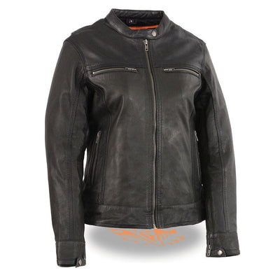 Motorcycle Jacket- Milwaukee MLL2551 Women's Scooter Leather Jacket