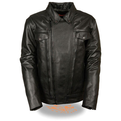 Motorcycle Jacket- Milwaukee MLM1520 Men's Pistol Pete Leather Jacket Front