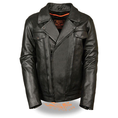 Motorcycle Jacket- Milwaukee MLM1520 Men's Pistol Pete Leather Jacket