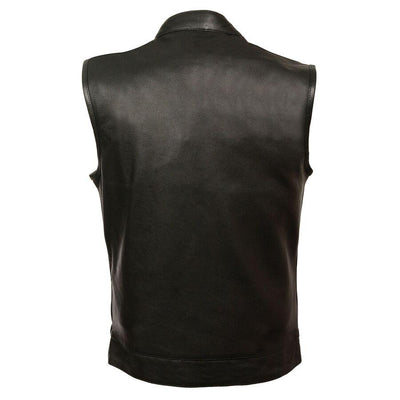 Motorcycle Vest- Milwaukee MLM3510 Leather Vest Back