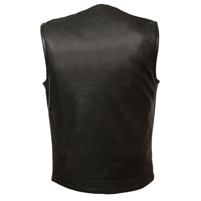 Motorcycle Vest- Milwaukee MLM3511 Leather Vest Back
