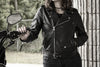 Women's Leather Motorcycle Jacket - First Mfg. Rockstar Black