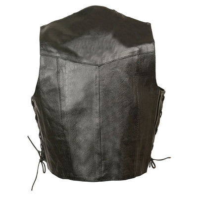Motorcycle Vest- Milwaukee Kids Leather Vest With Lace Back