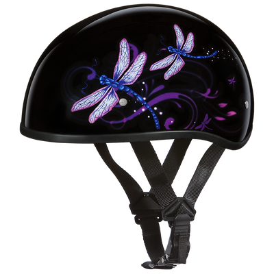 Motorcycle Helmet Half- Daytona Graphic Dragonfly